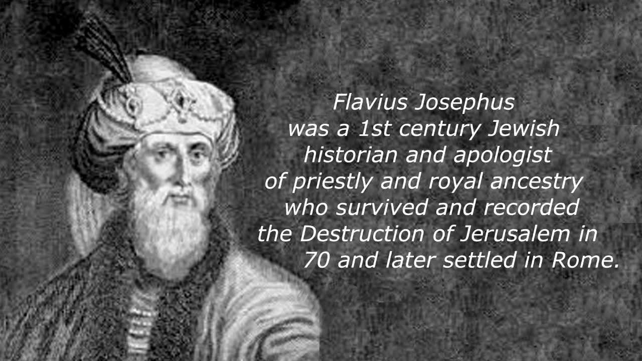 Flavius Josephus on Heaven & Hades, to the Greeks